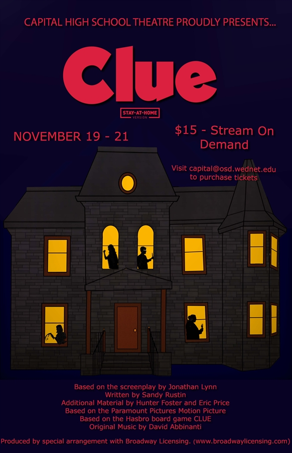 Image of poster for production of CLUE
